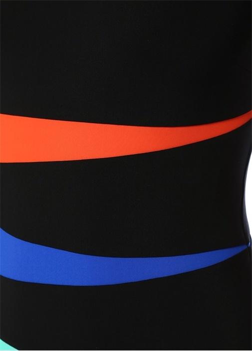 Valentina Siyah Renk Bloklu Mayo