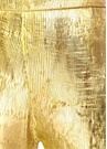 Gold Yüksek Bel İspanyol Paça Dokulu Pantolon