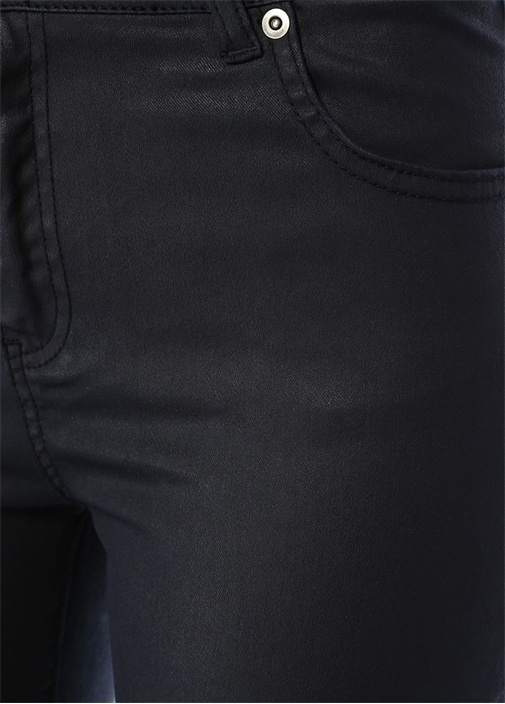 Lacivert Normal Bel Kaplamalı Dar Paça Pantolon