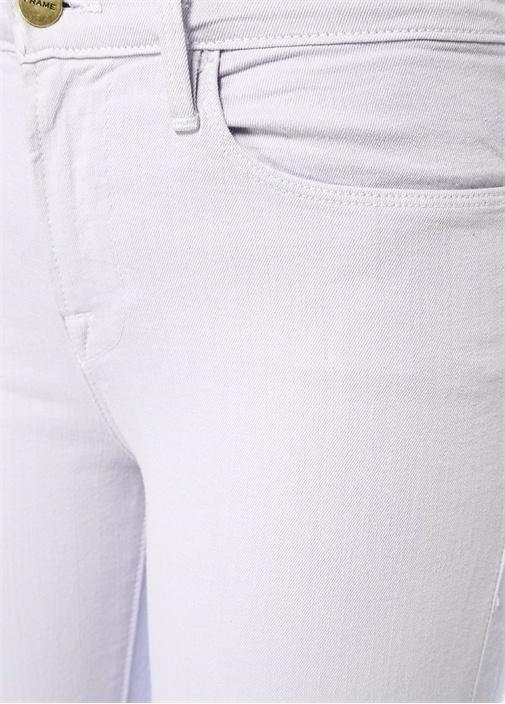 Lila Yüksek Bel Skinny Jean Pantolon