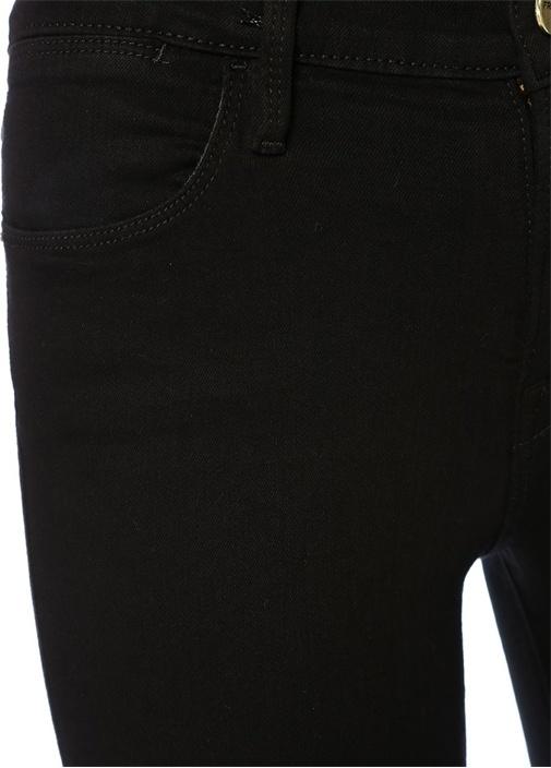 Siyah Yüksek Bel Skinny Jean Pantolon