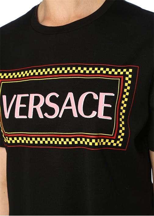 90s Vintage Siyah Logolu T-shirt
