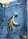 Ceo Mavi Desenli Boru Paça İpek Pantolon