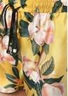 Glauco Sarı Çiçek Desenli İpek Şort