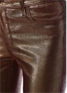 Bronz Normal Bel Super Skinny Deri Pantolon