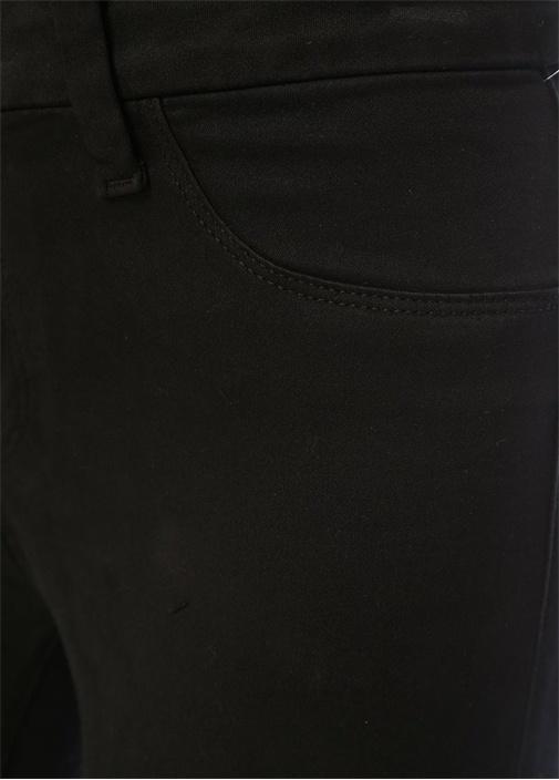 Anja Siyah Normal Bel Paçası Katlı JeanPantolon