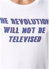 Revolition Bisiklet Yaka Baskılı Basic T-shirt