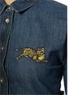Jumping Tiger İngiliz Yaka Nakışlı Denim Gömlek