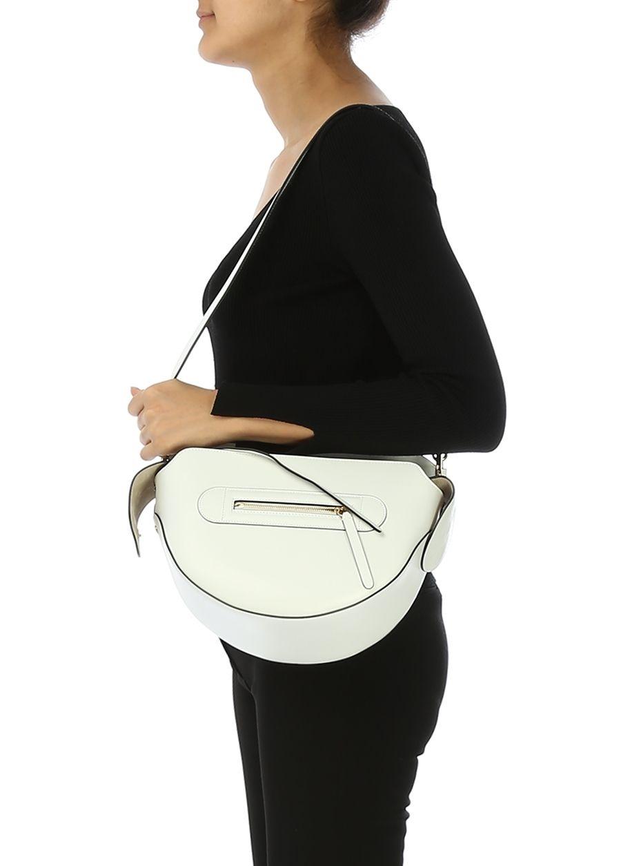 5bb8472cb636a Modalite - Beymen WANDLER Yara Beyaz Kadın Deri Omuz Çantası