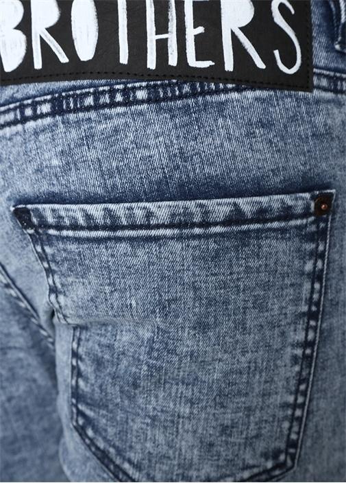 Skater Mavi Normal Bel Jean Pantolon