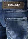 Slim Lacivert Yıpratmalı Fırça Darbeli Jean