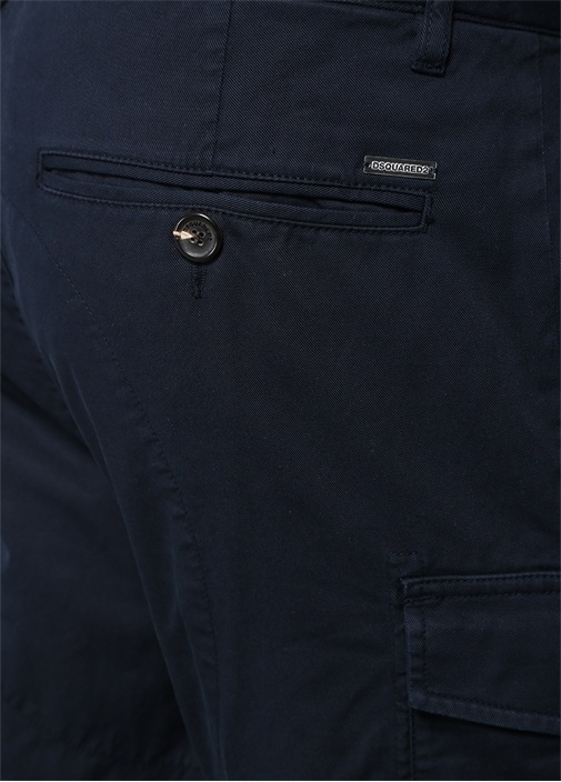 Cargo Fit Lacivert Yüksek Bel Pantolon