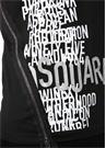 Siyah Bisiklet Yaka Logolu Fermuar Detaylı T-shirt