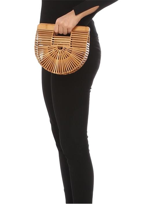 Gaias Ark Mini Bej Kadın Bambu Çanta