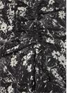 Ariya Lisk Siyah Çiçekli Büzgülü Midi Etek