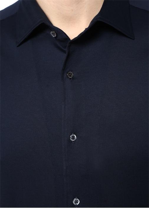 Drop 2 Lacivert İngiliz Yaka Gömlek