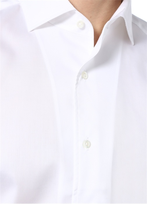 Wrinkle Free Özellikli Drop 2 Beyaz Gömlek