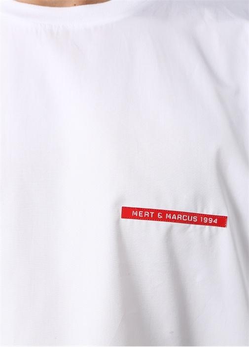 Mert Marcus 1994 Beyaz Bisiklet Yaka T-shirt