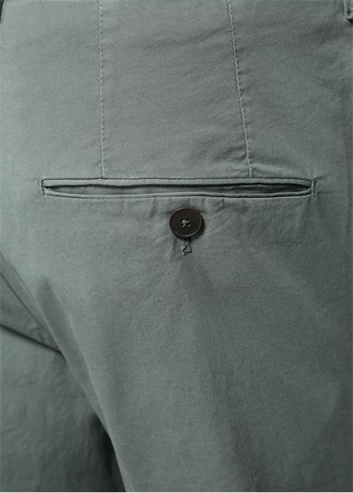 Drop 6 Yeşil Normal Bel Boru Paça Pantolon