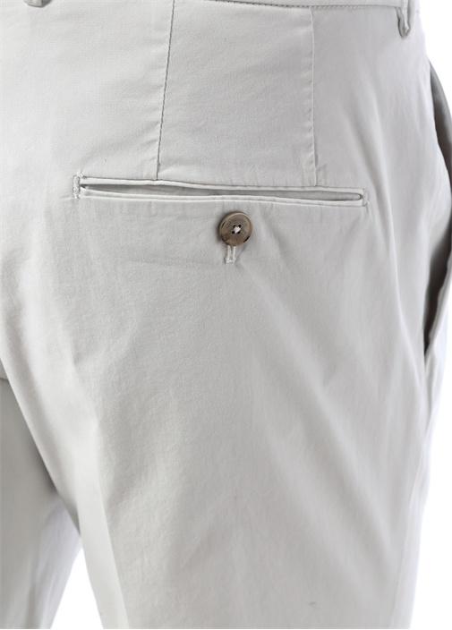 Drop 6 Ekru Normal Bel Boru Paça Pantolon