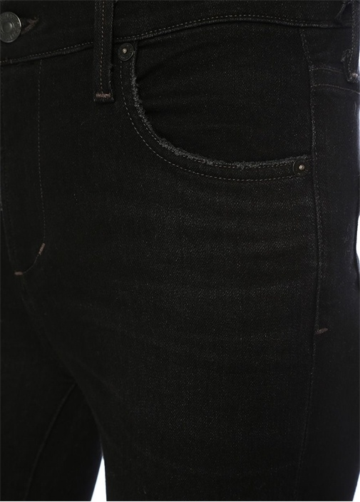 Rocket Siyah Yıpratmalı Crop Skinny Jean Pantolon