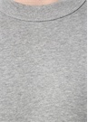 Gri Melanj Logo Baskılı Sweatshirt
