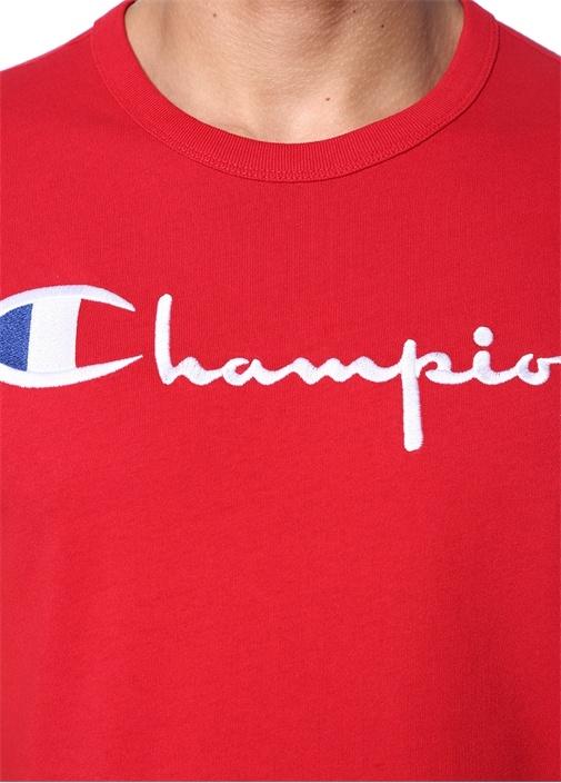 Kırmızı Logo Nakışlı T-shirt