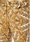 Zippy Gold Şal Desenli Bol Paça Keten Pantolon