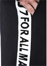 Siyah Normal Bel Logo Şeritli Eşofman Altı