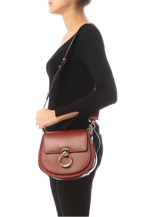 Tess Medium Taba Logolu Kadın Deri Çanta