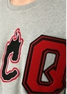 Gri Logo Patch Detaylı Düşük Kol Sweatshirt