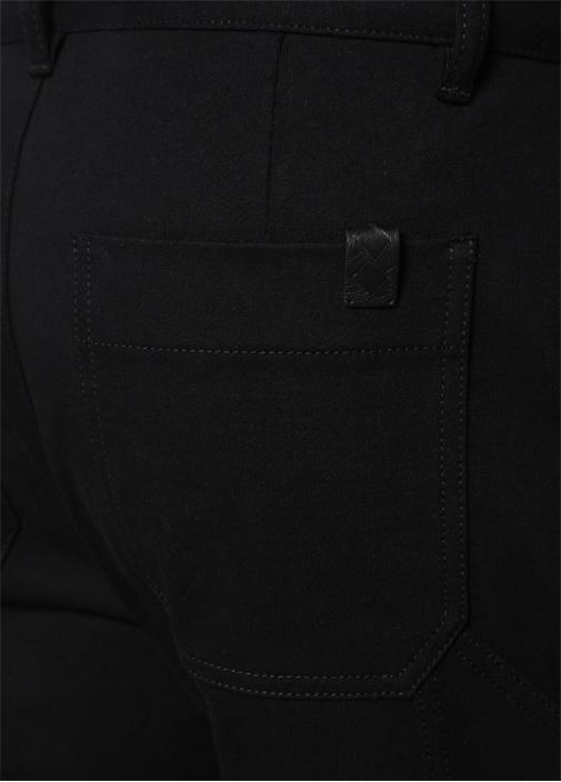 Siyah Normal Bel Bol Paça Pantolon