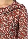 Billy Kırmızı Çiçekli Drape Detaylı Mini Elbise