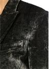 Gri Kırlangıç Yaka Ekoseli Kadife Ceket