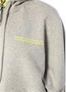 Gri Kapüşonlu Gömlek Garnili Oversize Mini Elbise
