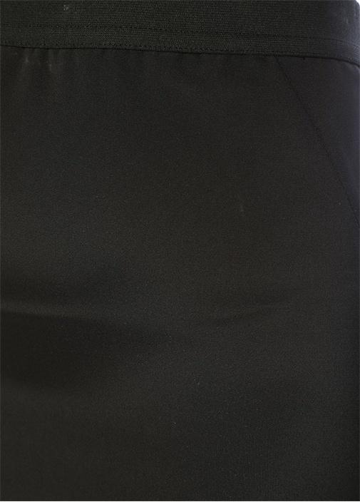 Siyah Yüksek Bel Midi Anvelop Etek