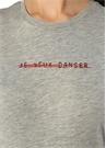 Je Veux Danser Gri Melanj Baskılı T-shirt