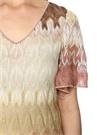 Gold Örgü Dokulu Simli Mini Elbise