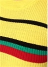 Sarı Renkli Çizgili Yarım Kol Triko