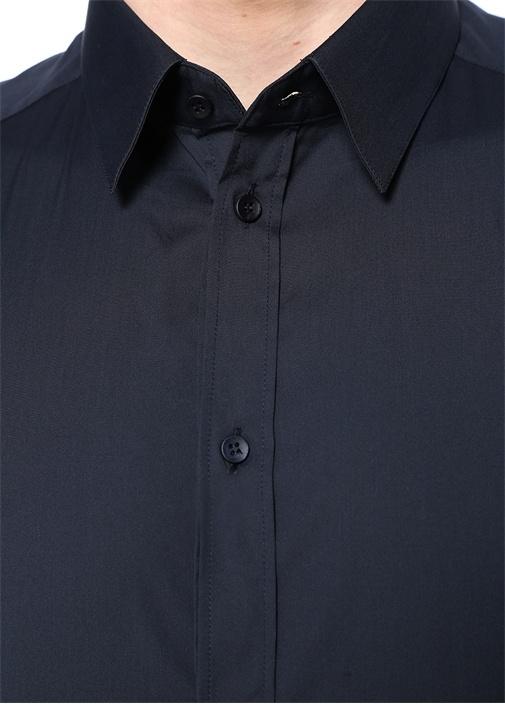 Gold Lacivert İngiliz Yaka Gömlek