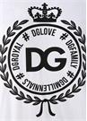 Beyaz Dekoratif Dikiş Detaylı Logo Baskılı T-shirt