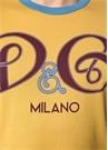 Sarı Bisiklet Yaka Logo Baskılı Basic T-shirt