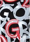 Siyah Kırmızı Bisiklet Yaka Logolu Sweatshirt
