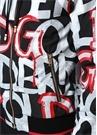 Siyah Kapüşonlu Graffiti Logolu Bomber Mont