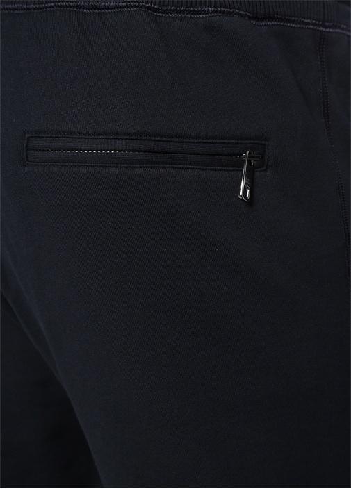 Siyah Kırmızı Logo Baskılı Eşofman Altı