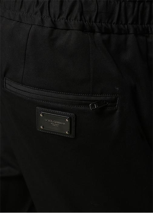 Siyah Normal Bel Dikişli Dar Paça Pantolon