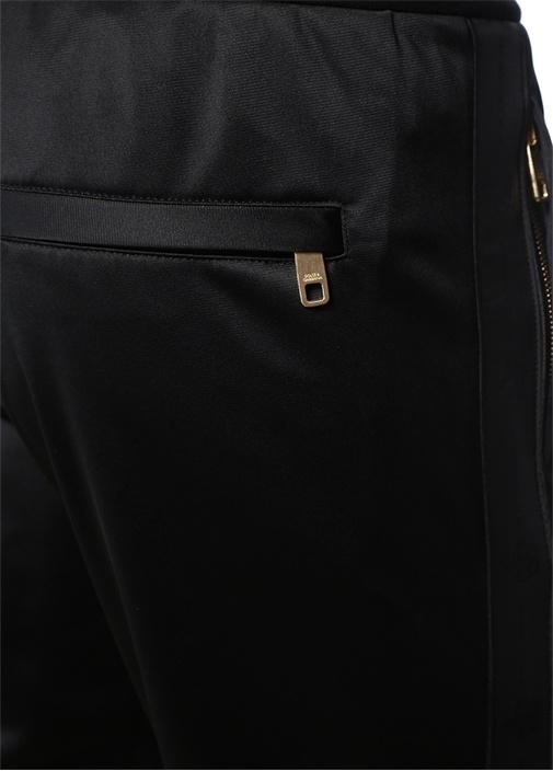 Siyah Kenarları Şerit Logolu Jogger Eşofman Altı