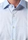 Mavi İngiliz Yaka Etnik Desenli Gömlek
