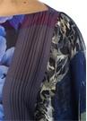 Colorblocked Karışık Desenli Püsküllü İpek Pelerin
