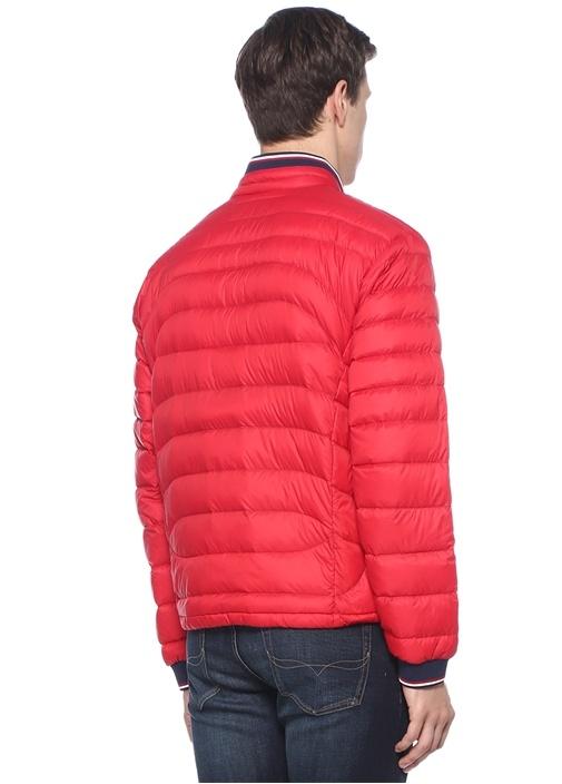 Kırmızı Logo Patchli Puff Mont